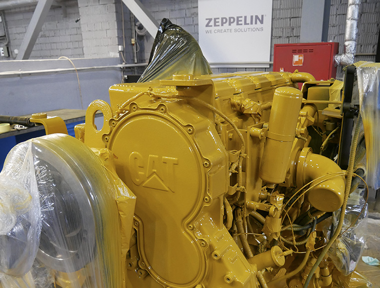 Очистка и покраска двигателя CAT C15